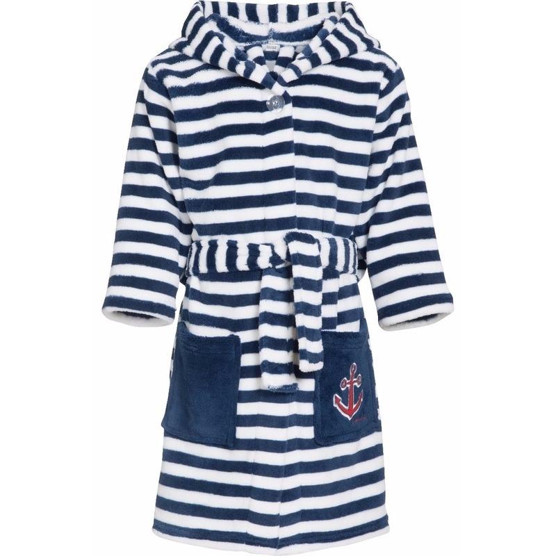 d8ceab46643 Gestreepte badjas blauw/wit voor jongen voor maar € 21.95 bij ...
